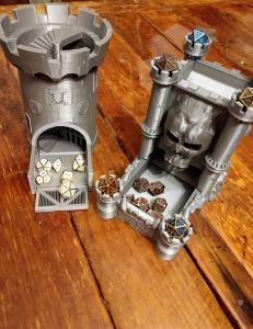 Metal Dice and Towers
